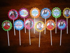 Fresh Beat Band cupcake toppers set of 12 Fresh by SassyCreationz, $4.25