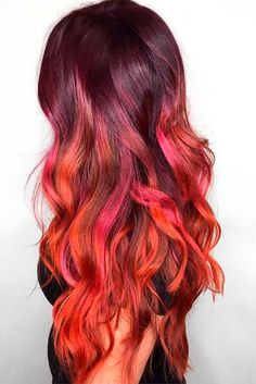Ombre is all the rage right now, from subtle ombre shades to vibrant blues and purples and even rainbow ombre.  If you are considering red ombre hair for your new look, you probably are ready for a bold new look.