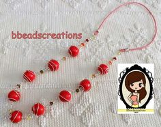 Collana wire silver plate, fimo rosso ciliegia e swarosky multicolor