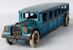 Cast Iron Arcade Fageol Safety Bus Toy