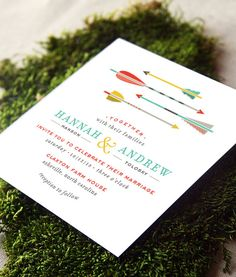 Arrows Wedding Invitation