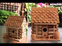 DIY Wine Cork Birdhouse For Garden