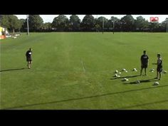 Crusaders Halfback Coach Jamie Hamilton demonstrates a simple passing drill for Halfbacks. This drill focuses on the halfback being able to enter the ball fr. Rugby Drills, Rugby Coaching, Passing Drills, Rugby Training, R80, Clock, Plays, Recovery, Training