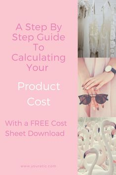 A step by step guide to calculating your product cost including fabric, trim, labour (labor), shipping and packaging costs. Business Marketing, Business Tips, Cost Sheet, New Instagram, Blogging For Beginners, Step Guide, Calculator, Crafts To Make, How To Make Money