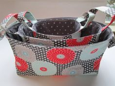 Nesting Basket Pattern Set of 3 Sizes included by KathieSewHappy #SatinFabric Organize Fabric, Fabric Bins, Buy Fabric, Fabric Decor, Satin Fabric, Viscose Fabric, Fabric Shop, Curtain Fabric, Sewing Baskets
