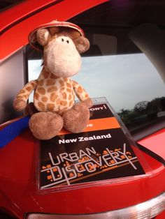 Draft the Giraffe getting ready to test drive the new Ford EcoSport in Thailand #EcoSport #EcoSportDrive #Ford #JennieVickers #Zeopard