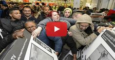These Videos Reveal The Dark Reality Behind Black Friday Sales http://www.hangovernews.com/these-videos-reveal-the-dark-reality-behind-black-friday-sales/ Wal-Mart deathly rush, 2007.  2. People rushed the man to death, and continued stepping over him.  3. Wal-Mart, 2014.  4. Pepper Spray attack in LA.  5. Northern Island Chain Store