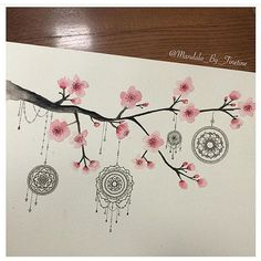 Dreamcatcher and cherry blossoms