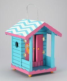 Blue Tropical Cabana Birdhouse