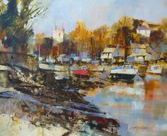 Evening Sunshine, St Anthony in Meneage by British Contemporary Artist Chris FORSEY