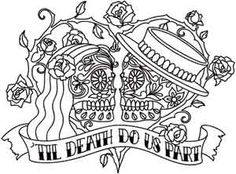 Til Death | Urban Threads: Unique and Awesome Embroidery Designs