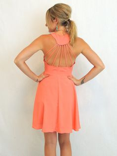 Ray Of Light Dress in Salmon