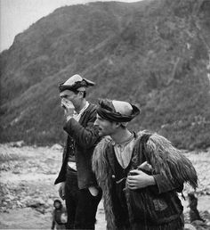 Two Shepherds in Theth, 1940. Photo Giuseppe Massani. From: A Passion for Theth  Chapter II Visions of Theth Past