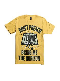 Bring Me The Horizon Don't Preach To Me T-Shirt, YELLOW