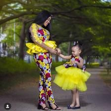 African Mother and daughter dress/African attire /African   Etsy African Fashion Ankara, Latest African Fashion Dresses, African Print Fashion, Africa Fashion, African Dresses For Kids, African Print Dresses, African Kids, Mum And Daughter Matching, Mother Daughter Fashion