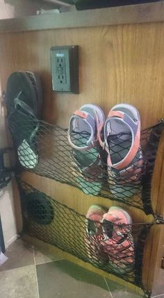 Great idea! Shoe storage. More