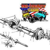 Custom Axles for Jeep // tricountygear.com