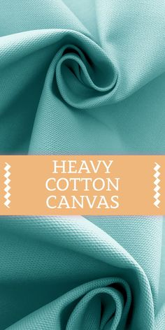 Heavy Cotton Canvas in Aquamarine Cotton) B And J Fabrics, Textile Fabrics, Textile Pattern Design, Textile Patterns, Fashion Vocabulary, Kinds Of Fabric, Fabric Names, Art N Craft, Color Boards