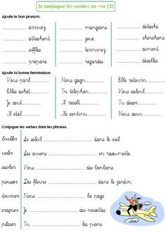 Les verbes en -er (suite) Plus French Verbs, French Grammar, French Expressions, French Language Lessons, French Language Learning, French Lessons, French Flashcards, French Worksheets, French Teaching Resources