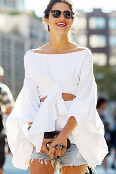 Spanish-flamenco-skirt-mules-Cigarette-pants-Puff-Sleeve