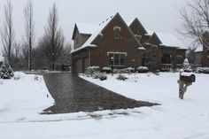 Heated driveway. Would be awesome addition considering the icy conditions of our drive every winter.
