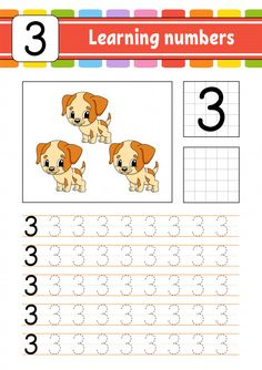 Trace and write. Preschool Learning Activities, Preschool Curriculum, Preschool Printables, Preschool Lessons, Teaching Kids, Kids Learning, Preschool Writing, Numbers Preschool, Learning Numbers