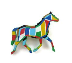 Trotting Horse Brooch, Horse Jewelry, Horse Lover Gift,  Equestrian Jewellery, Hand Painted Brooch, Wooden Brooch, Equine Jewelry by Larryware on Etsy