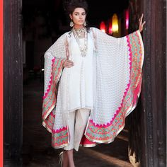 Soooooooo Love this. Latest Pakistani Indian formal Shalwar Kameez with Trouser / Churidar Pajama Pakistani Couture, Indian Couture, Pakistani Outfits, Indian Outfits, Indian Attire, Indian Wear, Ethnic Fashion, Asian Fashion, Anarkali