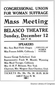 Congressional Union for Woman Suffrage Handbill