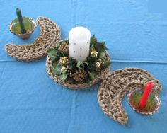 Triple Moon Table Runner - A wonderful and all natural centerpiece for your Wiccan or Pagan altar.