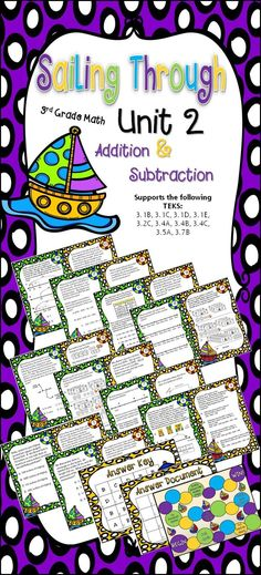 Freebie - till October 1st -  To get this product free, simply re-pin and send me an email at mailto:tptjolene@gmail.com to let me know   and I will email you the file! This product will give your third graders an excellent review on addition and subtraction to 1,000.  If you teach 3rd grade math in Texas this activity will prepare your students well for the TRS Unit 2 Math Exam.