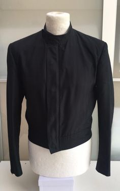Collector & Great YSL Rive Gauche Hedi Slimane Motorcycle Cropped Silk Jacket  | Clothing, Shoes & Accessories, Men's Clothing, Coats & Jackets | eBay!