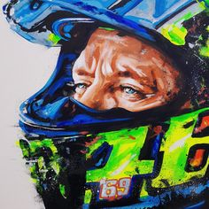 Buy this unique Valentino Rossi 002 part of our motorsport products collection. Rossi Valentino Moto GP Original Art By Sean Wales Car gifts for fans and enthusiasts. Valentino Rockstud, Valentino Rossi Logo, Valentino Couture, Valentino Women, Vale Rossi, Original Artwork, Original Paintings, Bike Photography, Amazing Photography