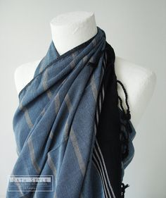 bathstyle on Etsy. Cotton/willow fibers hand-loomed peshtemal for use as pareo, scarf, or bath towel.
