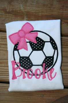 Soccer ball with Bow t shirt by OhSewUniqueDesigns on Etsy, $18.00