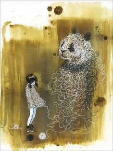 Panda Sweater by Lora Zombie | Eyes On Walls