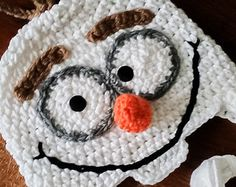 Olaf Handmade Crochet Hat, I Like Warm Hugs, Olaf from Frozen hat, Best snowman around is a friendly Olaf for everyday wear, Photo Props