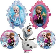 DISNEY FROZEN BIRTHDAY PARTY BALLOONS BOUQUET SUPPLIES DECORATIONS ELSA ANA OLAF