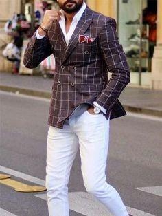 Wearing Stylish Mens Fashion Jackets - Top Fashion For Men Blazer Outfits Men, Mens Fashion Blazer, Stylish Mens Fashion, Stylish Mens Outfits, Suit Fashion, Men's Outfits, Casual Outfits, Casual Blazer, Latex Fashion