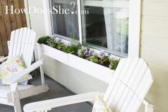 15 Cool DIY Window Boxes With Tutorials-boxes under the living room etc windows would be pretty
