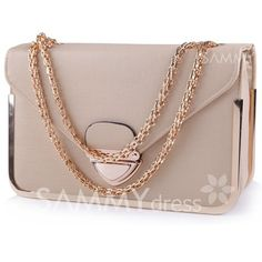 $14.39 Party Women's Shoulder Bag With Chains and Metallic Design