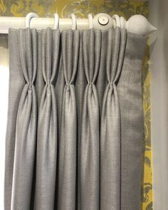 A stunning example of a Triple Pinch Pleat Heading on our showroom curtains! Such a smart and elegant style especially in Lustre… Pinch Pleat Curtains, Pleated Curtains, Types Of Curtains, Curtains With Blinds, Curtains Living, Living Room Windows, Home Living Room, Types Of Pleats, Curtain Headings