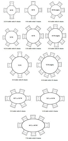 Rectangular And Oval Dining Table Sizes