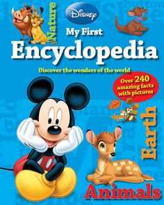 DISNEY MY FIRST ENCYCLOPEDIA - https://www.parragon.com.au/9781445465456/ - Discover the wonders of the world with Disney's My First Encyclopedia. This fun encyclopedia features colourful photographs of animals and nature, with over 240 interesting facts. The three chapters, Earth, Nature and Animals, present exciting new information to your child in a compelling way. #LionKing #Disney