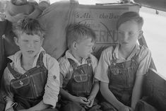 Migrant boys in auto. Oklahoma 1939. Photo Russell Lee