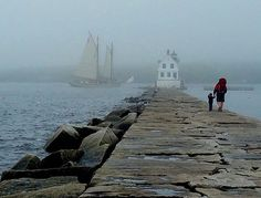 Rockland Breakwater Lighthouse by @downeastmagazine
