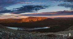 evening light at the side of Kellostapuli. Beautiful landscape location!