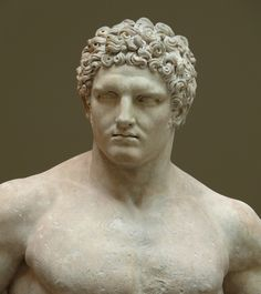 Ancient Roman marble statue of a youthful Hercules. Early Imperial, Flavian…