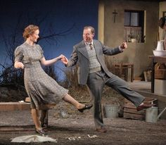 Marie Ruane and Stephen Swift in the Second Age production of 'Dancing at Lughnasa'. Photo: Anthony Woods