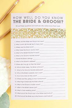 Free Printable Bridal Shower Games 1